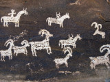 Ute Indian Petroglyphs Fotografie-Druck von John Elk III