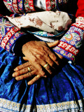 Close-Up of Hands of Woman Wearing Traditional Clothes Photographic Print by Jeffrey Becom