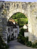 Porte De Rocamadour on the Pilgrim's Route to St Jacques De Compostela Fotografie-Druck von Barbara Van Zanten