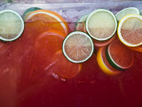 Citrus Drink Mural Detail at New Mexico State Fair Fotografisk trykk av Ray Laskowitz