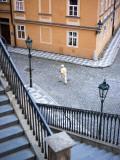 Stairs and Woman Walking, from Charles Bridge Fotografisk trykk av Christopher Groenhout