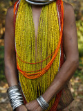 Details from Traditional Dress of Tribal Bonda Woman Photographic Print by Kimberley Coole