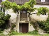 Double Stairway Leading into House Fotografie-Druck von Barbara Van Zanten
