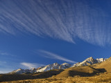 Cirrus Clouds over Eastern Sierra Nevada in Winter Seen from Buttermilk Road Near Bishop Photographic Print by Witold Skrypczak