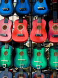 Toy Guitars for Sale at New Mexico State Fair Fotografisk trykk av Ray Laskowitz