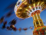 New Mexico State Fair Amusement Ride Fotografisk trykk av Ray Laskowitz