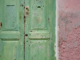 Complementary Colours Adorning Doorway in Tangier Medina Photographic Print by Orien Harvey