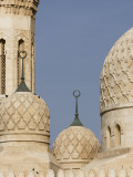 Architectural Detail of Domes of Jumeirah Mosque Reproduction photographique par Brent Winebrenner