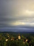 Morning Storm Clouds over Village of Carennac Fotografie-Druck von Barbara Van Zanten