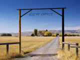 Gate at Ranch in Sunset Valley at Frenchglen Highway Near Burns Photographic Print by Witold Skrypczak