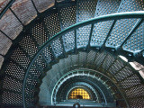 Iron Staircase of Currituck Beach Lighthouse Photographic Print by Peter Ptschelinzew