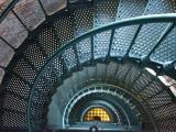Iron Staircase of Currituck Beach Lighthouse Lámina fotográfica por Peter Ptschelinzew