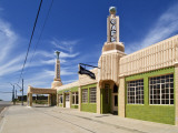 U-Drop Inn, Art Deco Petrol Station and Coffee Shop, on Old Route 66 Photographic Print by Stephen Saks