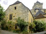 House in Village of Castelnaud at the Foot of Castenuad Castle Fotografie-Druck von Barbara Van Zanten