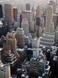Manhattan Buildings from Rockefeller Center Photographic Print by Richard l'Anson