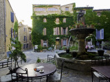 Place De La Fontaine in the Hilltop Village of Saignon Photographic Print by Barbara Van Zanten
