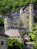 Castle of Laroque-Toirac on Steep Cliff Face Fotografie-Druck von Barbara Van Zanten