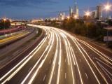 Overhead of Traffic on Mitchell Freeway, Leederville Photographic Print by Orien Harvey