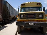 Bus Truck Waiting at Train Station Reproduction photographique par Sabrina Dalbesio