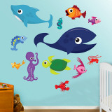 Animaux marins 1 Autocollant mural