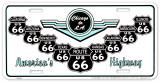 Route 66 V Shields Tin Sign