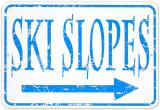Ski Slopes Blikskilt