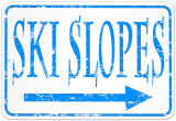 Ski Slopes Metalen bord