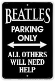 Beatles Parking Placa de lata