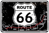 Route 66 Map Tin Sign