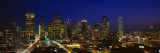 Buildings in a City Lit Up at Night, Dallas, Texas Wallstickers af Panoramic Images,