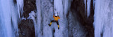 Rear View of a Person Ice Climbing, Colorado Veggoverføringsbilde av Panoramic Images,