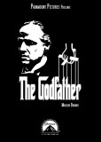 Filmposter uit The Godfather met Engels citaat Masterprint