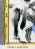 Against Apartheid Samlertryk af Roy Lichtenstein