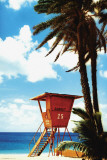 Tropical-Orange Lifeguard Hut Affiches