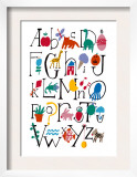 Cute Alphabet with Illustrations Posters