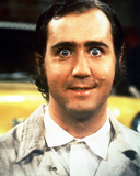 Portret Andy Kaufman in Taxi Foto
