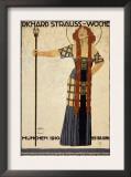 Richard Strauss Music Festival, circa 1910 Pôsters por Ludwig Hohlwein