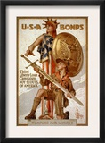 U*S*A Bonds, Third Liberty Loan Campaign, Boy Scouts of America Weapons for Liberty Poster por Joseph Christian Leyendecker
