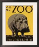 Visite o zoológico da Filadélfia Posters