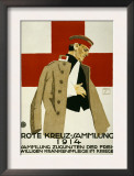 Red Cross Collection Drive, 1914 ポスター : ルートヴィッヒ・ホールヴァイン