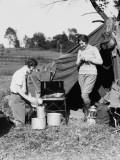 Two Women Camping Fotografisk trykk av H. Armstrong Roberts