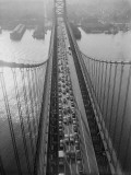 Traffic on Delaware River Bridge, Connecting Philadelphia and Camden, New Jersey Photographic Print by H. Armstrong Roberts