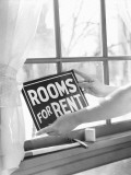 Rooms For Rent Sign Photographic Print by H. Armstrong Roberts