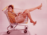 Woman in Supermarket Trolley Photographic Print by H. Armstrong Roberts