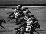 Horse Racing Photographic Print by H. Armstrong Roberts