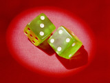 Pair of Dice Showing 'Lucky Seven' Photographic Print by H. Armstrong Roberts