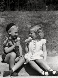 Eating Ice Cream Photographic Print by H. Armstrong Roberts