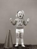 Girl Cheerleader With Megaphone Fotografisk trykk av H. Armstrong Roberts