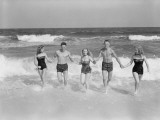 Friends on Beach Photographic Print by H. Armstrong Roberts