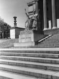Usa, New York City, Columbia University, Alma Mater Statue Photographic Print by George Marks